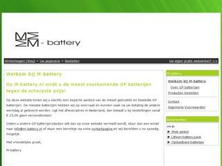 De eerste site van M-battery uit 2013