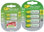 GP 2100 ReCyko+ AA en GP 850 ReCyko+ AAA oplaadbare penlites