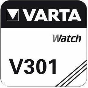 Varta 301 zilveroxide knoopcel (SR43SW /  SR43), blister 1