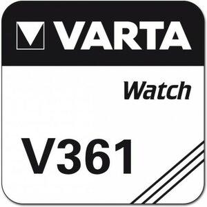 Varta 361 zilveroxide knoopcel (SR721W / SR58), blister 1