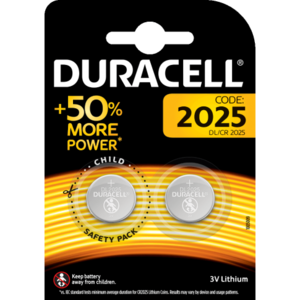 Duracell CR2025 lithium knoopcel, blister 2