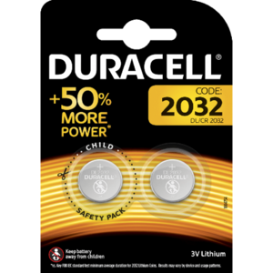 Duracell CR2032 lithium knoopcel, blister 2