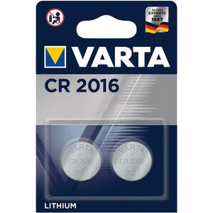 Varta CR2016 lithium knoopcel batterijen, blister 2