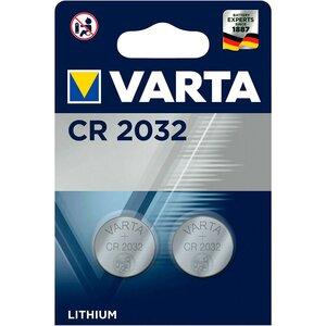 Varta CR2032 lithium knoopcel batterijen, blister 2
