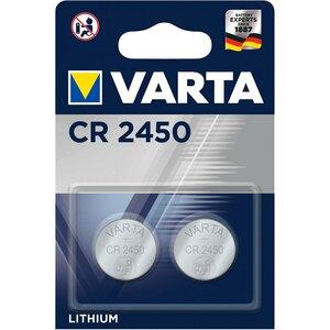Varta CR2450 lithium knoopcel batterijen, blister 2