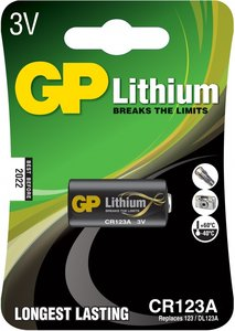 GP CR123A Photo Lithium (DL123A), blister 1