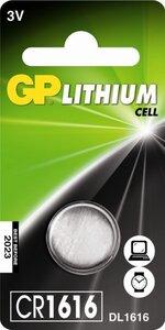 GP CR1616 Lithium knoopcel, blister 1