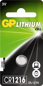 GP CR1216 Lithium knoopcel, blister 1