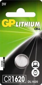 GP CR1620 Lithium knoopcel, blister 1