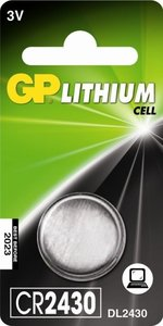 GP CR2430 Lithium knoopcel, blister 1