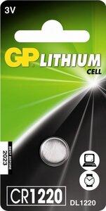 GP CR1220 Lithium knoopcel, blister 1