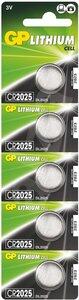 GP CR2025 Lithium knoopcel, blister 5