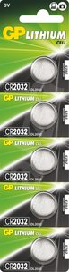 GP CR2032 Lithium knoopcel, blister 5