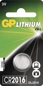 GP CR2016 Lithium knoopcel, blister 1