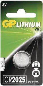 GP CR2025 Lithium knoopcel, blister 1