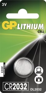 GP CR2032 Lithium knoopcel, blister 1