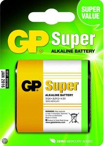 GP Super Alkaline 3LR12 4.5V Plat, blister 1