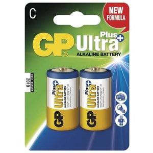 GP Ultra Plus Alkaline C Baby kleine staaf, blister 2