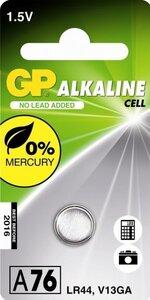 GP LR44 Alkaline knoopcel (76A/V13GA/L1154), blister 1
