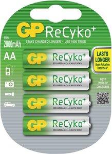 GP ReCyko+ oplaadbare AA Mignon penlite, blister 4
