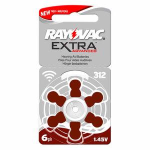 Rayovac extra advanced 312 Hoorapparaat batterij (bruin)