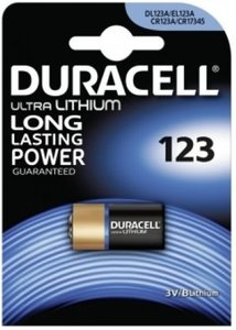 Duracell CR123A Photo Lithium (DL123A), blister 1