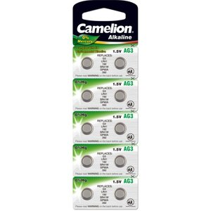 Camelion AG3 alkaline knoopcel (LR41/SR41W/GP92A), blister 10