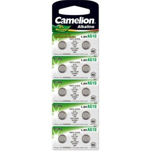 Camelion AG10 alkaline knoopcel (LR54/SR1130W/GP89A), blister 10