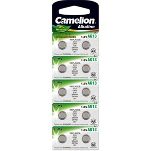 Camelion AG13 alkaline knoopcel (LR44/SR44W/GP76A), blister 10