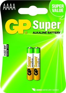 GP Super Alkaline AAAA Piccolo, blister 2