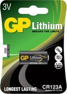 GP lithium CR123A batterij blister