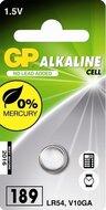 GP 189 LR54 Alkaline knoopcel blister