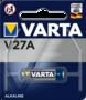 Varta V27A hoogvoltage alkaline batterij blister