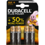 Duracell Plus Power Alkaline AA batterij