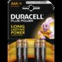 Duracell Plus Power Alkaline AAA batterij
