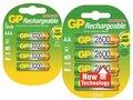 GP 2600 NiMH AA en GP 1000 NiHM AAA oplaadbare penlites
